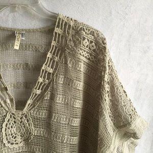 XCVI || NEIMAN MARCUS || crochet knit top shirt